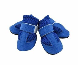 Fashional Breathable Mesh Dog Boot Pet Casual Shoes, Blue - $11.27