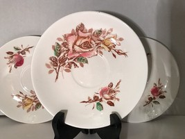 Vintage Nasco Princess Rose Pattern 3 Round Saucers Made In Japan Collec... - $12.93