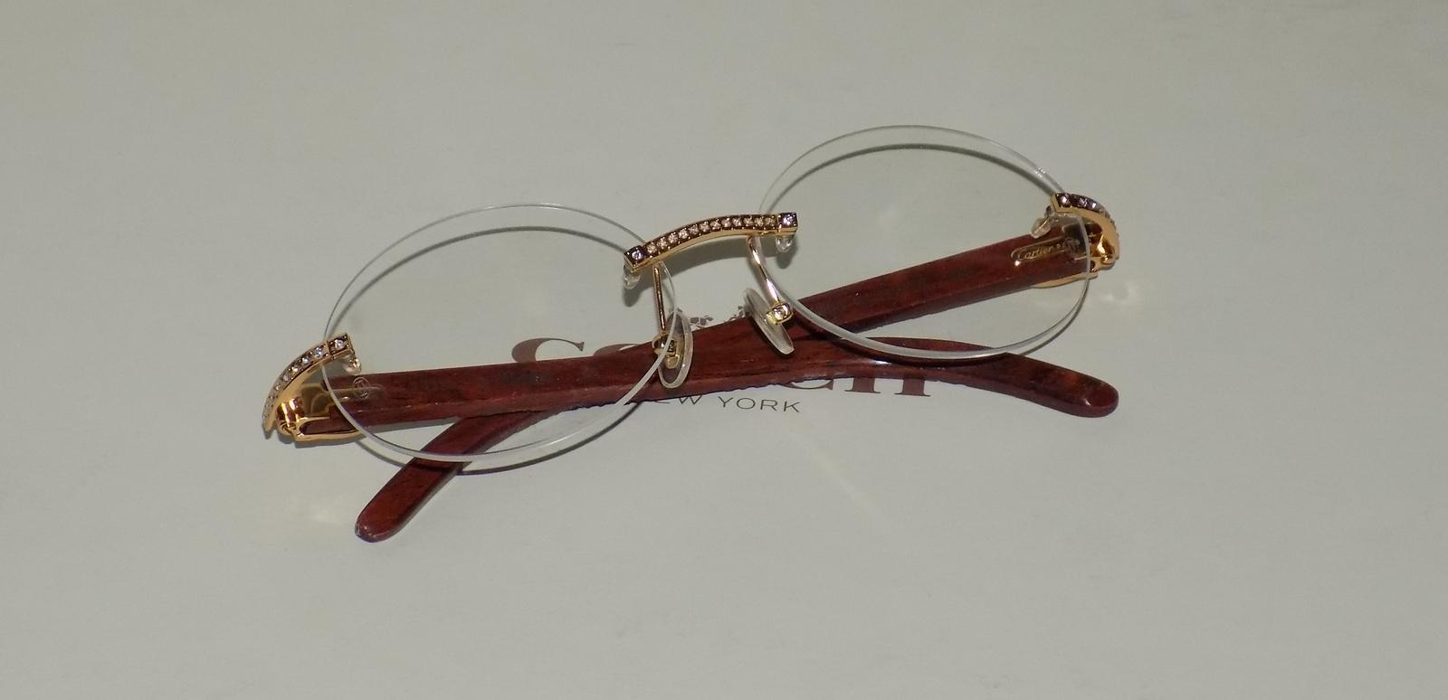 d9b2192ecbe Cartier Smooth Acrylic Tiger Carved Rosewood Buffalo Clear C Décor  Sunglasses
