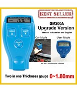 Coating Thickness Gauge Upgraded Version GM200A Car Paint Coating Meter ... - $18.76