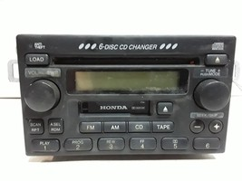 01 02 Honda Accord sedan AM FM 6 disc CD cassette radio OEM 1TA1 39100-S... - $74.24