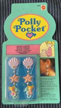 Vintage 1990 Polly Pocket Seashell Earrings Dangly MOC NEW & SEALED #6285 - $99.99