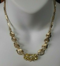Vintage Sarah Coventry Gold-tone  Prong Set Rhinestone Collar Necklace - $23.27