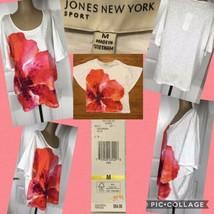NEW! Jones New York Sport Ladies Pullover Top Short Bat Sleeves Retail $... - $14.84