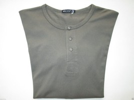Alternative Soft Cotton Long SLV Men Henley T-Shirt Sterling Forest M (1... - $29.06