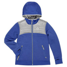 NEW!! Gerry Youth Kid's Larkspur Full Zip Ribbed Hooded Jacket