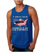 Men's Tank Top Undefeated World War Champions 4th Of July - $14.94+