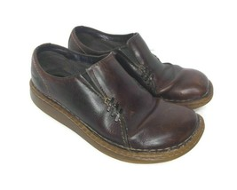 Dr. Doc Martens 3A65 Womens EUR 37 (6-6.5 US) Dark Brown Slip On Leather  - $28.70