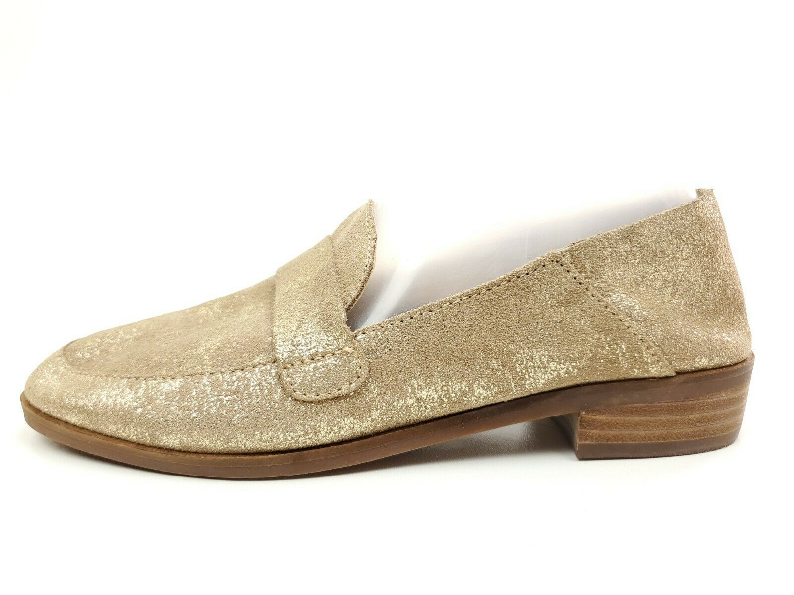 Lucky Brand Chennie Gold Glitter Penny Leather Loafer 7.5 - $29.95