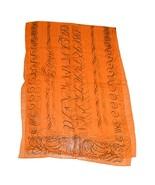 Hermes Scialle 180 X 65 CM Chiffon Seta Mousseline Arancione Sciarpa Mus... - $509.71
