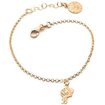 Silver Bracelet 925 Laminated in Rose Gold le Favole Puppet AG-901-BR-91 - $56.58
