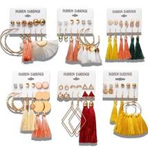 Long Tassel Drop Earrings Fashion Geometric Jewelry For Women Ladies 6 p... - $6.96