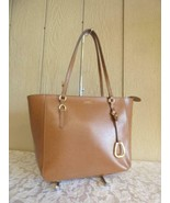 $168.00 Lauren Ralph Lauren Bennington Leather Shopper, Brown - $94.05