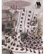 Rose Garden Afghans Crochet Decor Floral Blanket Throw Vintage Tea Time ... - $19.75