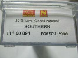 Micro-Trains # 11100091 Southern 89' Tri-Level Closed Autorack N-Scale image 5