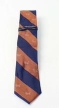 Tommy Hilfiger Striped Dog Two-Tone Neck Tie Silk (Blue/Brown) - $17.10