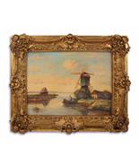 Vintage Oil Painting, Painting in Gold Frame, Elegant Wedding Gift, Anti... - $299.00