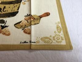 VTG LUTHER TRAVIS 2 QT. Fruit Basket Linen AMERICANA Kitchen Tea Towel UNUSED image 2