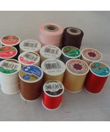 Lot 15 Spools Different Colors Sewing Thread Quilting - $22.99