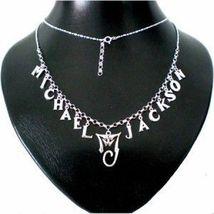 Handmade 925 Sterling Silver Michael Jackson History Tour Necklace Choker - $168.00