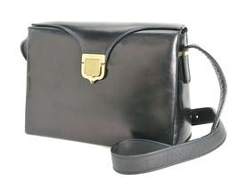 Authentic Vintage CELINE Black Leather Shoulder Bag Purse #33723 - $229.00