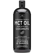 Premium MCT Oil Made only from Coconuts - 32oz BPA Free Bottle. Keto, Pa... - $31.79