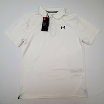 Under Armour Loose Boys Polo Shirt Size XL White Polyester TT1 - $17.81
