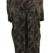 KSL Karin Stevens Sleeveless Maxi Dress and Jacket Size 14W Brown Animal Print image 4