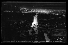 Nightlights Will Rogers Shrine of the Sun Colorado Springs Sanborn S994 CO RPPC  - $12.50