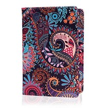 HDE Passport Holder for Women Passport Cover RFID Travel (Purple Paisley) - $17.90