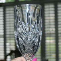 "Tall Iced Tea Glass Goblet Crystal Star Blossom Pattern 8"" - $14.89"