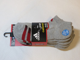 Adidas 3 pair socks No Show Climalite Stain Resistant Compression shoe s... - $24.74
