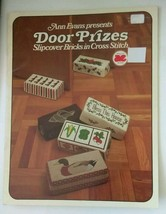 ANN EVANS -  DOOR PRIZES SLIP COVERS IN  CROSS STITCH LEAFLET - $6.88