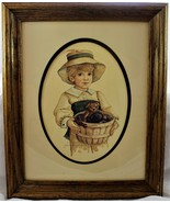 Jan Hagara Signed/Numbered Little Boy Lithograph Print - $39.59