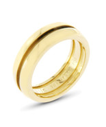 Auth Tiffany & Co. 18k Yellow Gold Grooved Dome Band Ring Size 6 »U423 - $832.35
