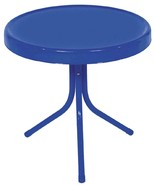 "Northlight 20"" Electric Blue Retro Metal Tulip Outdoor Side Table - $48.25"
