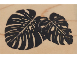Rubber Stamps of America Leaves Wood Mounted Rubber Stamp image 1
