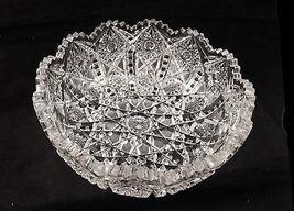 "American Brilliant Period JULIETTE by Irving Cut Glass 9"" D x 3 1/2"" Fab... - $125.00"