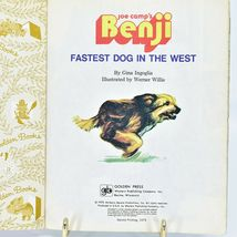 A Little Golden Book Joe Camp's Benji Fastest Dog in the West 111-6 2nd Printing image 3