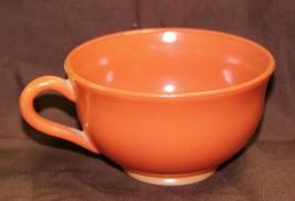 1950's Vintage Hazel Atlas Ovide Platonite Coffee Tea Cup Rust Orange Mi... - $11.99