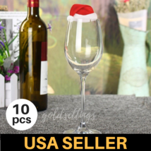 Xmas Santa Claus Kitchen Table Wine Glass Cup Decor Holder Dinner Decorations - $7.99