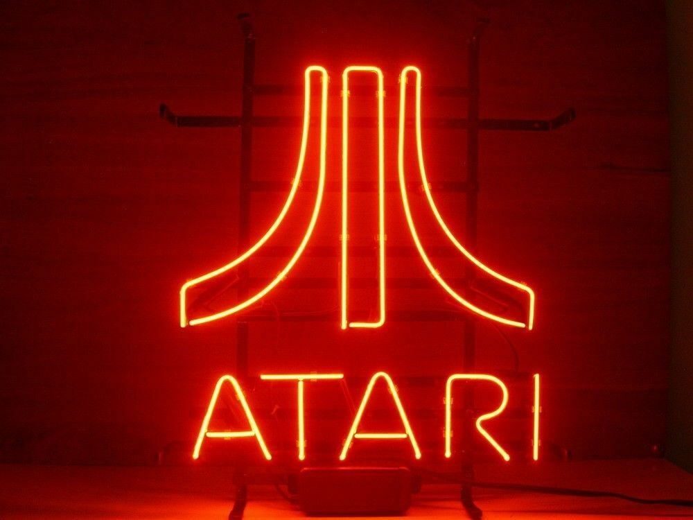 "Red Atari Game Room Neon Sign 14""x10"" Beer Bar Light Artwork Decor"