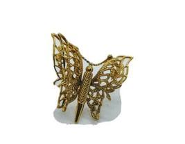 Monet Goldtone Filagree Butterfly Brooch /Pin 1980's Era - $23.38