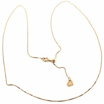 Yellow gold chain pink or white 18k, with venetian jersey heart, 0.5 mm thick image 1