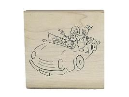 Denami Design 2008 Out for a Drive Rubber Stamp