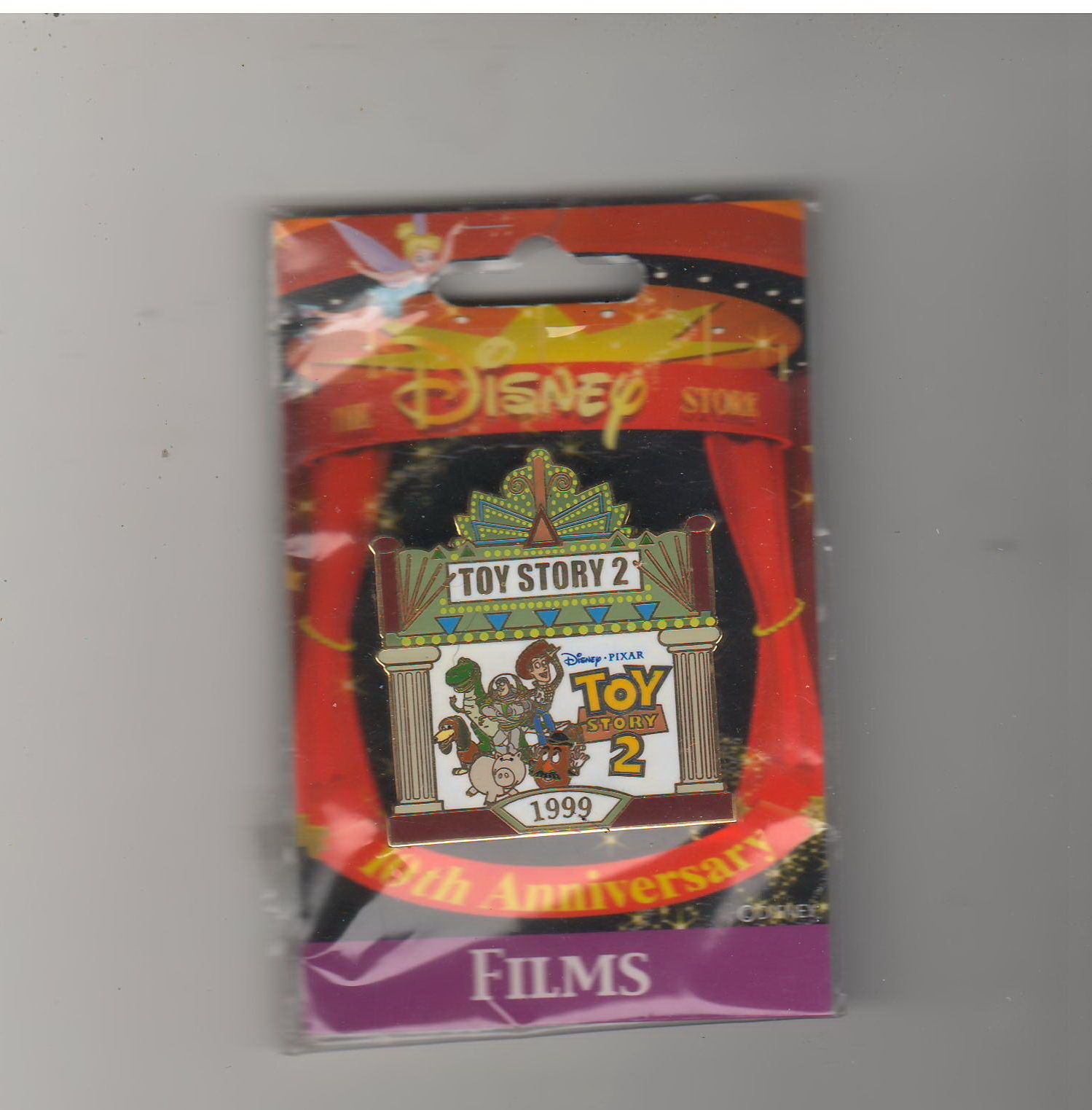 JDS 10th Anniversary Toy Story 2 Authentic  japan Disney On CArd pin - $99.99