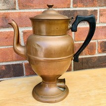 Antique Rochester Stamping Co. Copper Coffee Tea Pot Electric Warmer 10 ... - $71.25