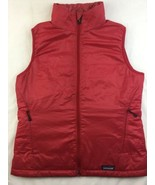 Patagonia Insulated Vest Womens M Red Adjustable Waist Synthetic Zip FLAWS - $46.74