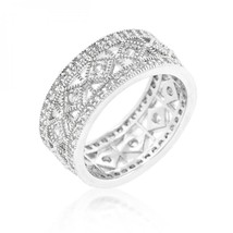 Simple Classic Cubic Zirconia Band (size: 06) R08319R-C01-06 - $28.00