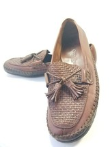 Cole Haan Country Women's Size 7B Tassel Loafer Moc Toe Brown Leather - $25.49